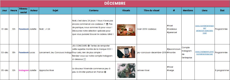 Créez votre propre calendrier éditorial sur Excel !