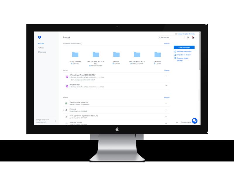 Dropbox, est une application d'organisation de travail vous permet de partager vos fichiers