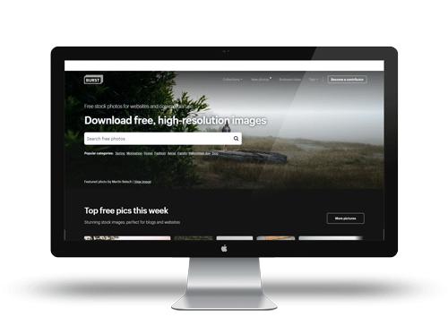 Utilisez Burst pour vos créations, la banque d'image gratuite libre de droit !