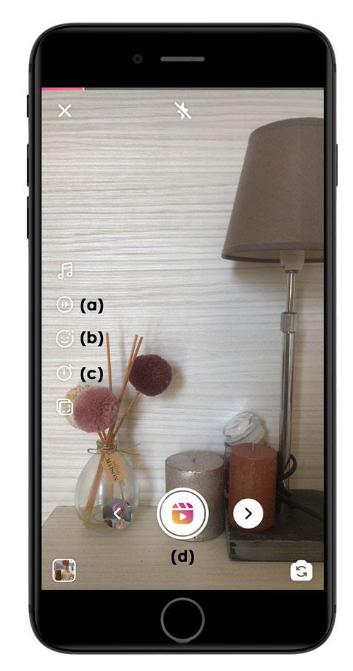 Tournez votre vidéo et utilisez les boutons disponibles sur Instagram Reels