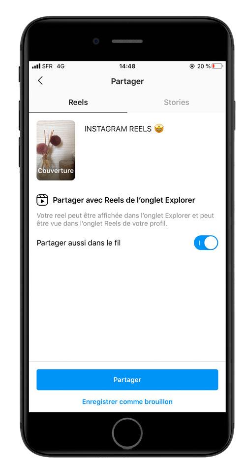 Comment publier votre reels Instagram ?