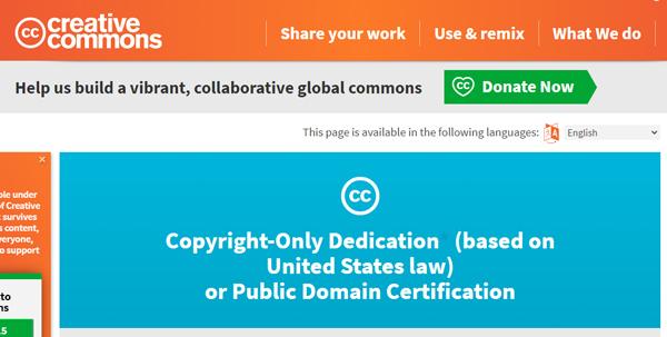Une image sous licence CC-0 appartient au domaine public