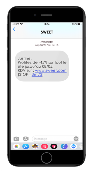 Campagne de SMS marketing