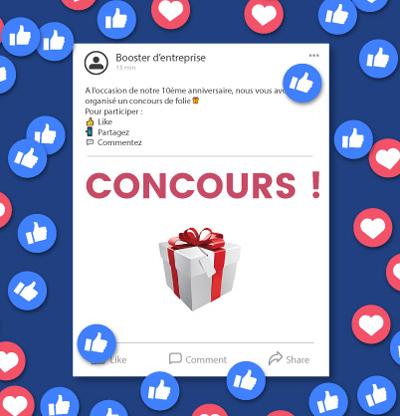 Poposez des concours pour dynamiser votre page facebook entreprise