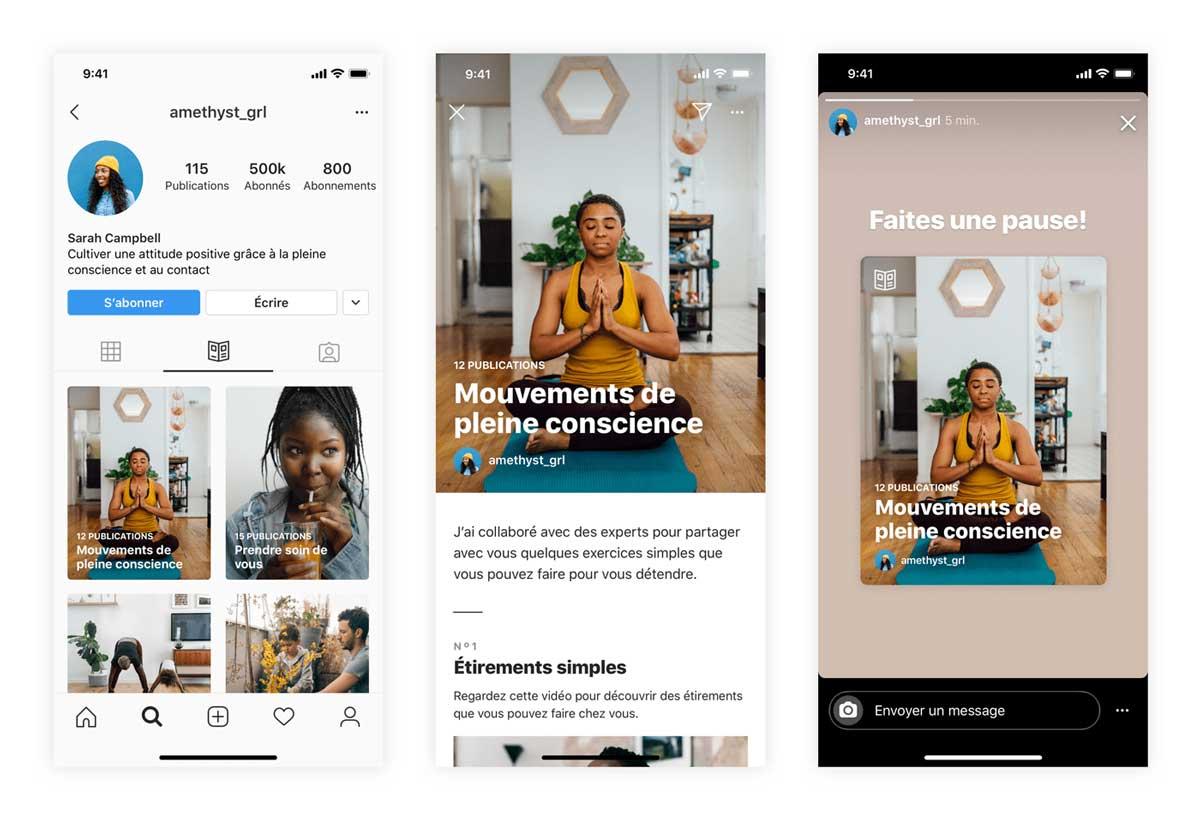 Présentation de la nouvelle fonctionnalité Instagram : les Guides.